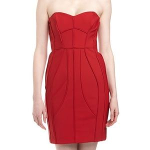 NWOT Laundry Shelli Segal Strapless bodycon dress